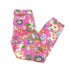 Kate Spade Broomer Street Pink Floral Capri Jeans